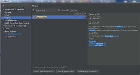 android studio genymotion android studio中配置genymotion android学习