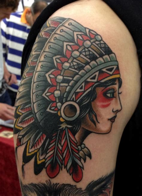 indian head tattoo paul anthony dobleman may 2012