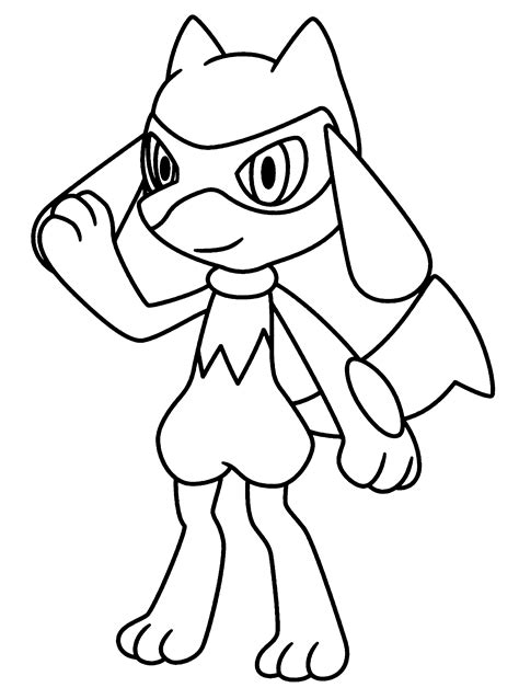 pokemon coloring pages lucario pok 233 mon lucario coloring pages
