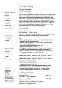 Dog groomer resume, pets, salon, job description, example
