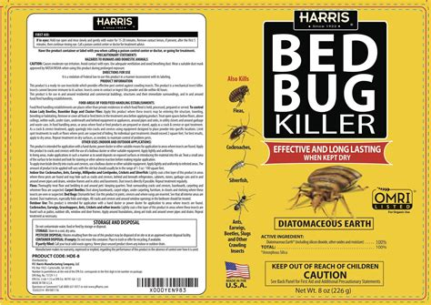 harris bed bug killer  bundle kit diatomaceous earth powder silica powder toughest