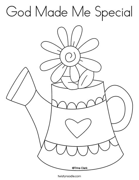 God Made Me Coloring Page Coloring Home God Made Me Special Col