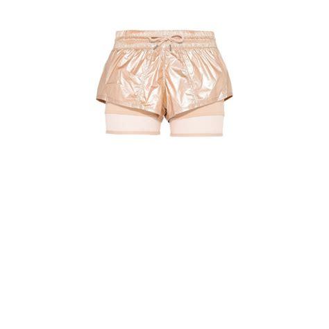 Lnice Golden Metallic 2in1 Set metallic gold run 2in1 shorts adidas by stella mccartney