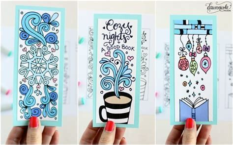 free printable coloring page bookmarks dawn nicole winter bookmarks coloring page dawn nicole designs 174