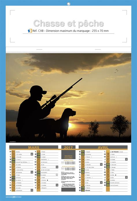 Calendrier Chasse 2017 Calendriers Publicitaires Chasse P 232 Che