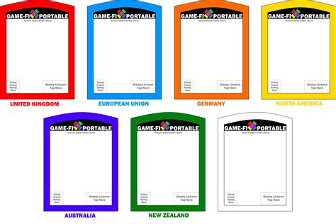 game fi portable game card templates by levelinfinitum on