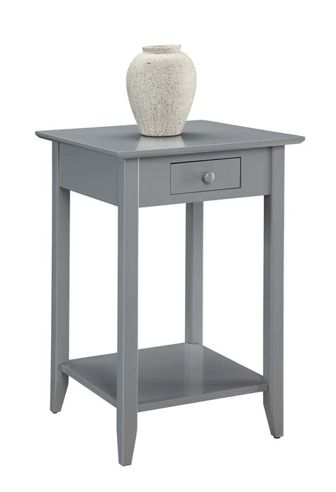 american heritage end table with drawer and shelf 7104077gy