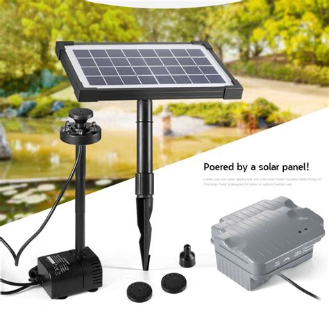3 5w Solar Power Fountain Pond Pool Water Feature Pump Kit Solar Lights For Ponds