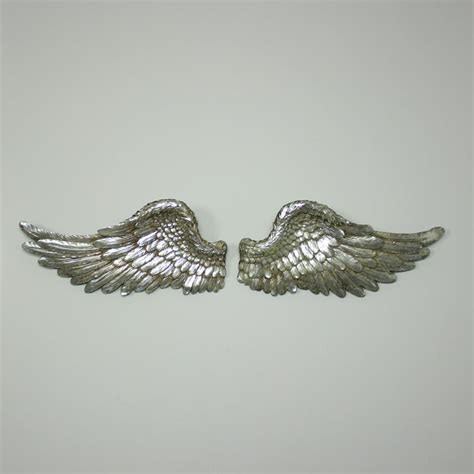 Wings Silver by Large Silver Resin Wall Hanging Feather