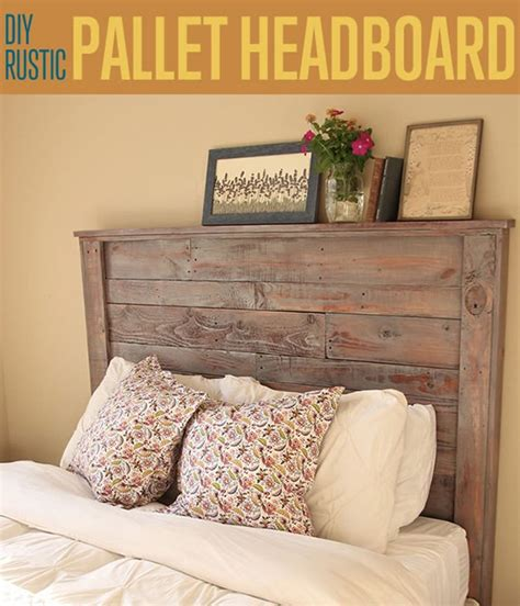 diy rustic pallet headboard diyready easy diy crafts