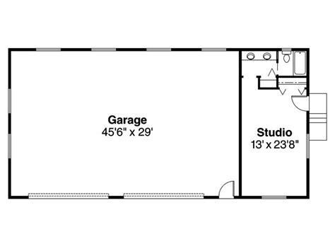 garage floor plan 4 car garage plans 4 car garage plan with studio design 051g 0002 at www thegarageplanshop