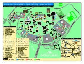 Cal State San Bernardino Map california state university san bernardino map san