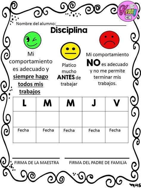 formato de registro de conducta y disciplina en el aula tu escuelita sem 193 foros de conducta 6 normas del aula pinterest