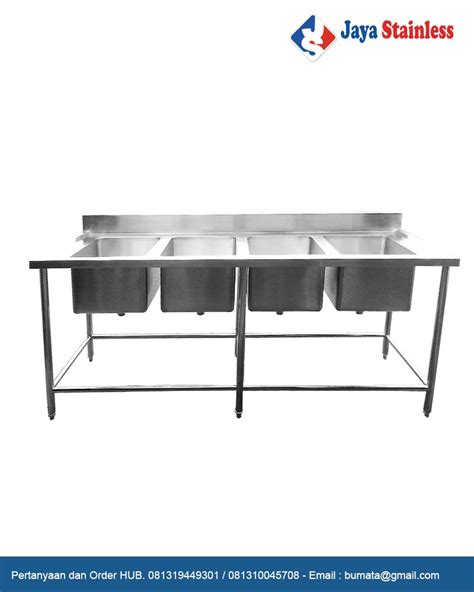 Meja Wastafel Stainless Steel meja sink stainless 4 mangkuk cuci maja bowl sink 4