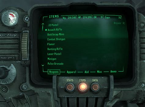 fallout 3 console fallout 3 s pip boy 3000 console interface flickr
