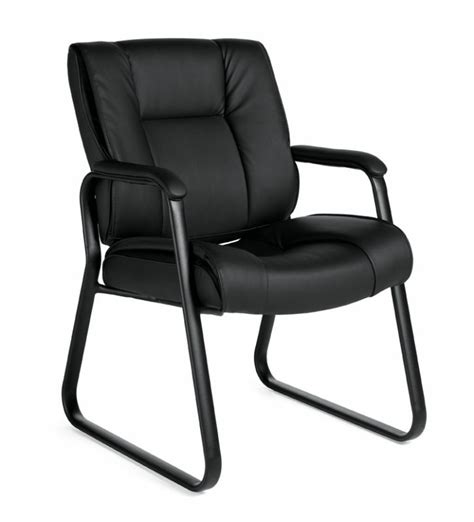 lot   black leather guest office desk side chairs ebay