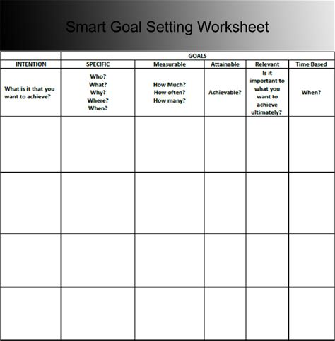 Template For Goal Setting Worksheet by 9 Goal Sheet Templates Free Pdf Documents