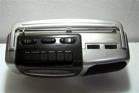 cassette player boombox durabrand am fm cassette player recorder boombox ct 995