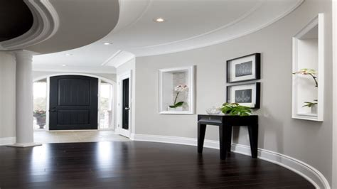 Dark Wood Floors With Light Gray Walls And White Trim | wall light attractive light walls dark floor as well as