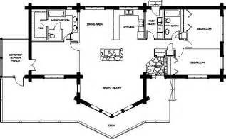 Log Home Open Floor Plans Log Home Floor Plans Montana Log Homes Floor Plan 024