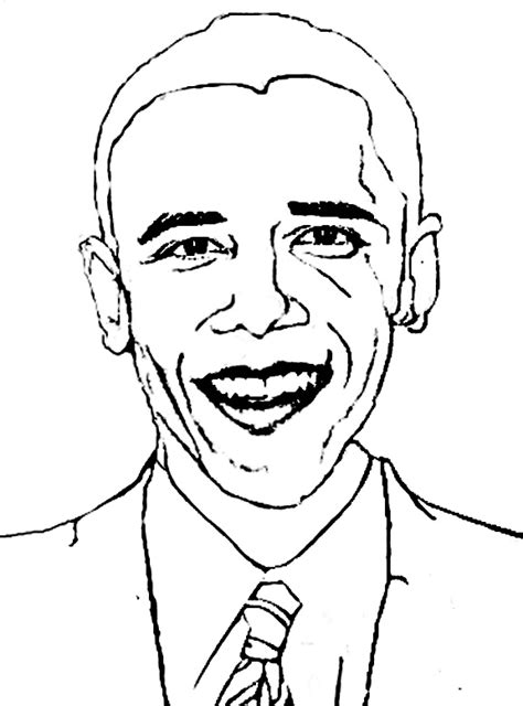 Free Coloring Pages Of Barack Obama Obama Coloring Page