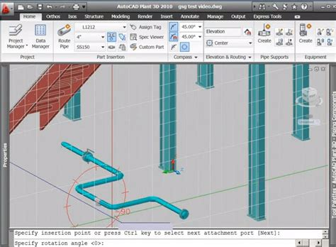 tutorial autocad piping video tutorial command routing pipe with autocad plant 3d