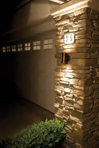 exterior wall cladding house design with outdoor led