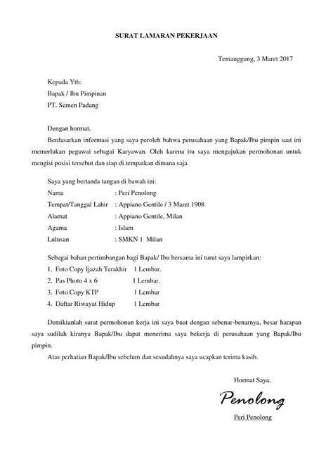 Contoh Surat Lamaran Pekerjaan Perawat Di Rumah Sakit