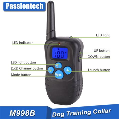 how to use a remote collar upgraded model correction collar for dogs with blue rubber button buy correction