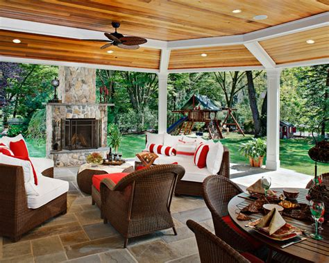 backyard traditional patio new york by