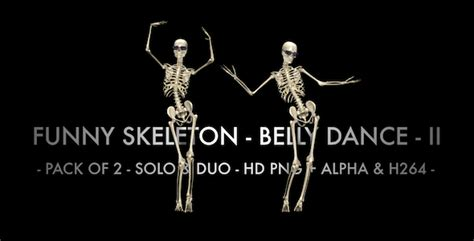 funny skeleton belly dance pack of 2 by videomagus