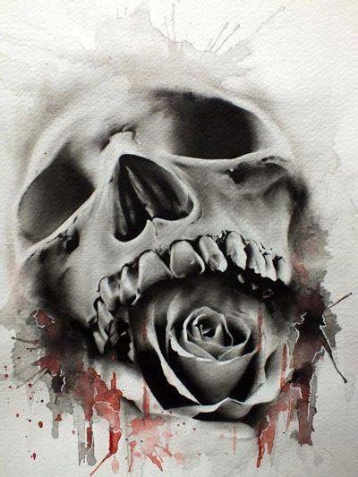 imagenes de calaveras blanco calaveras y rosas tatuajes pinterest