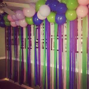 birthday wall decoration for food table i did