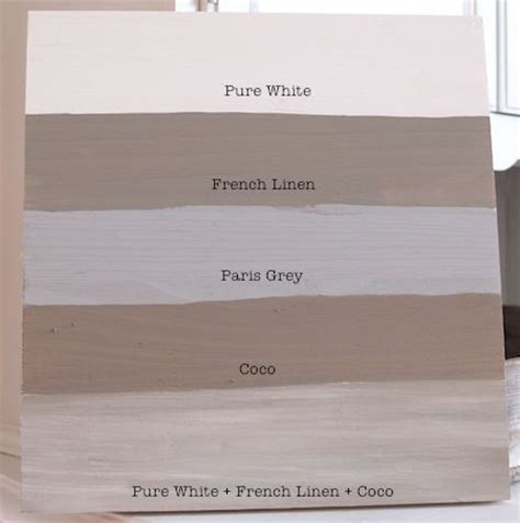colors sloan chalk paint white linen grey coco and mixed