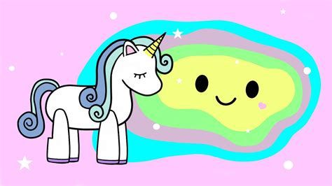 imagenes de unicornios volando el cuento del slime de unicornio caricaturas kawaii youtube