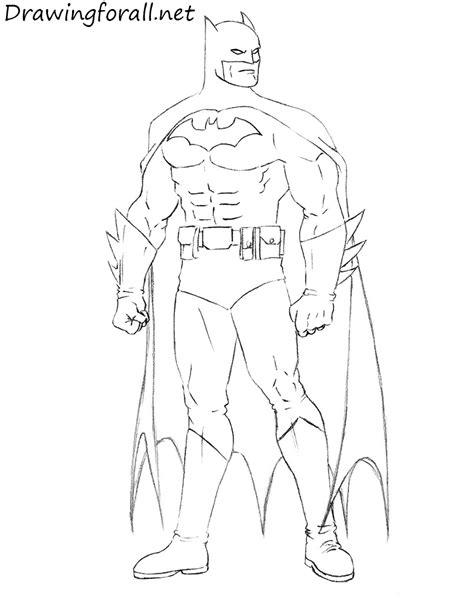 Drawing Of A by How To Draw Batman Step By Step Drawingforall Net