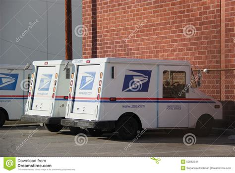 Us Postal Service Background Check United States Postal Service Truck Editorial Stock Image
