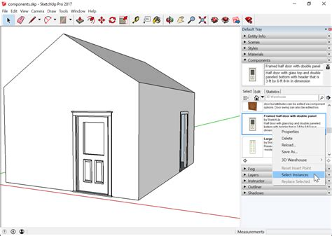 sketchup layout purge adding premade components and dynamic components
