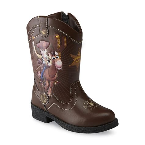 light up boots toddler boy disney toddler boy s brown light up cowboy boot