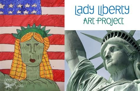 statue of liberty craft for liberty gets a make space sparkle
