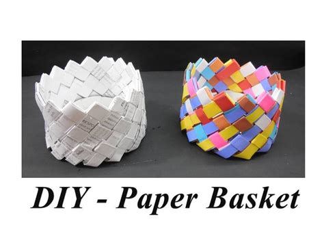 Basket With Paper - diy how to make paper basket doovi