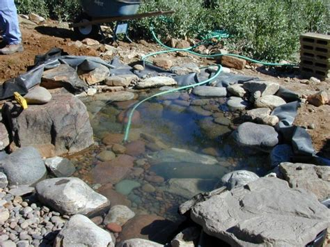 diy pool waterfall how to create a pond and stream for an outdoor waterfall
