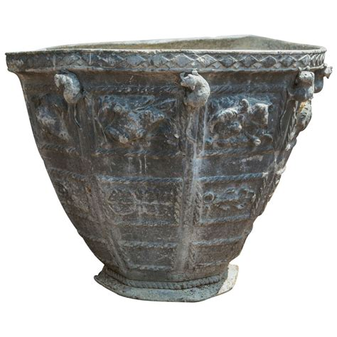 Lead Planters For Sale pair of bromsgrove guild lead urns for sale at 1stdibs