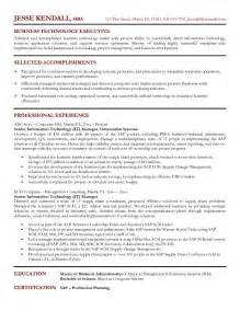 Resume Sample It by Example Senior It Manager Resume Sample