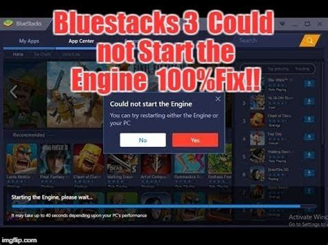 bluestacks could not start the engine bluestacks 3 could not start the engine fix how to fix