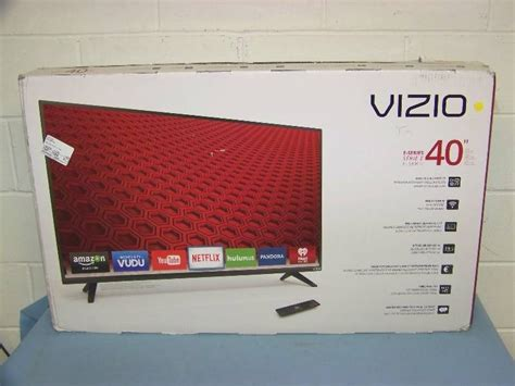 led tv box design 40 quot vizio led smart tv television brand new in box