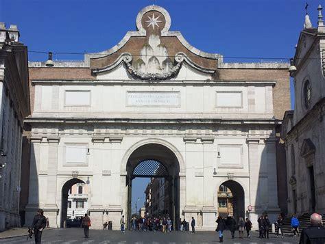 porta popolo facciata interna di porta popolo realizzata nel 1655
