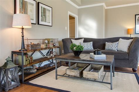 mixing old and new furniture plano texas home staging town home staging rustic modern living space mixing old elements