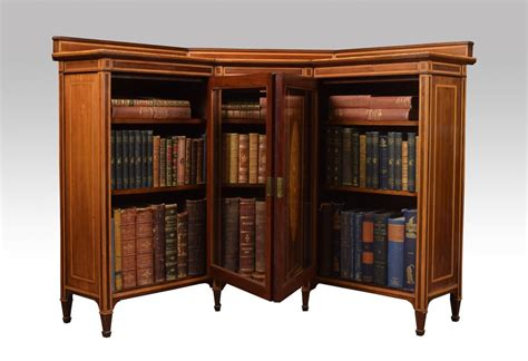 Corner Bookcase Cabinet Mahogany Inlaid Corner Bookcase Cabinet Antiques Atlas