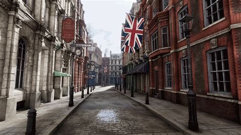 product of the streets victorian street by richard vinci in environments ue4